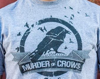40be6662556c Murder of Crows Vigor - Bioshock Infinite shirt on 100% cotton heather tee  shirt