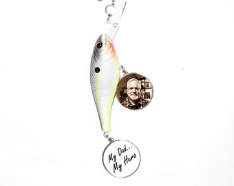Rearview Mirror Charm Bass Spinbait Lure Fish 2 Photo Charms  - FREE SHIPPING