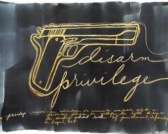 Original ink and cyanotype illustration