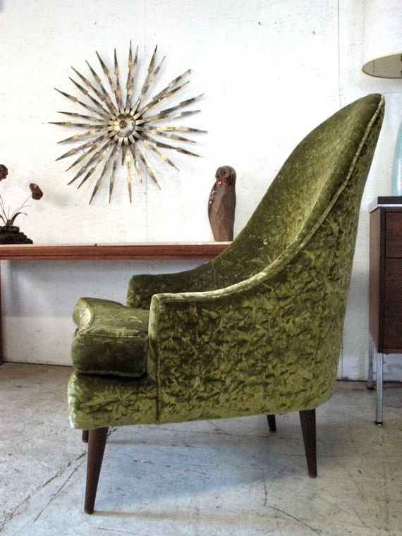 Excellent Mid Century Modern Lounge Chair Sculptural Green Upholstered Chair 1960S Scoop Chair 1960S Green Pearsall Style Living Room Chair Dailytribune Chair Design For Home Dailytribuneorg