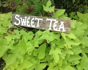 Rustic Sweet Tea Sign / Rustic Rehearsal Decorations / Sweet Tea / Rustic Wedding Decorations / Party Drink Sign / Rustic Drink Sign