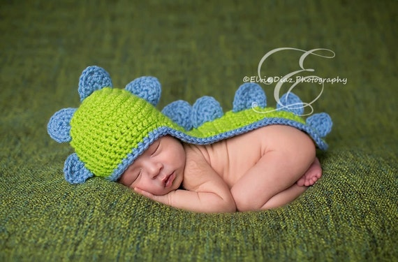 Babymütze Neugeborenes Baby Dinosaurier Mütze Häkeln Etsy