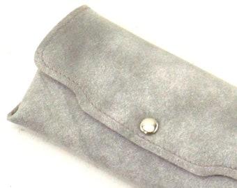 vintage 50s 60s NOS hard eyeglass case gray marble eyeglasses case accessories