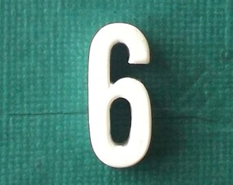 vintage numbers miniature gift personalized personalized gift monogram minimalist decor home decor industrial number 6 number 9