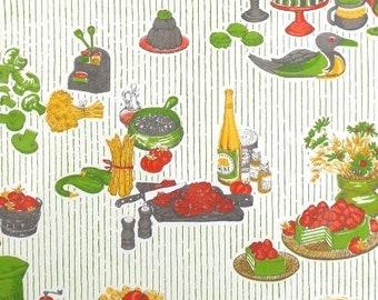 70s vintage kitchen home decor farmhouse kitchen shabby chic retro wallpaper drawer liner shelf liner vinyl kitchen art kitchen print