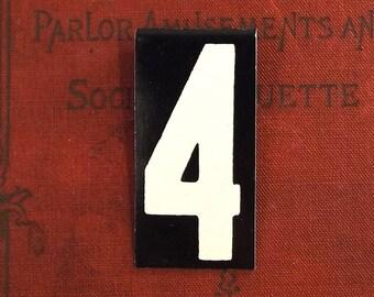 vintage sign metal industrial rustic decor home decor gift personalized personalized gift minimalist numbers number 4.