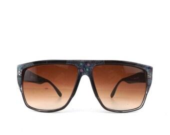 vintage sunglasses retro hipster boho vintage sunglasses 80s costume sun glasses chocolate brown plastic oversized squared frame