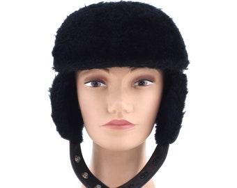 f8adb015f2b5e Black ear flap hat