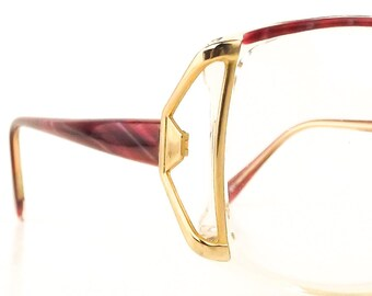 f8157617e857 oversize pink eye glasses vintage cazal style eyeglass frames open temple  eyeglasses