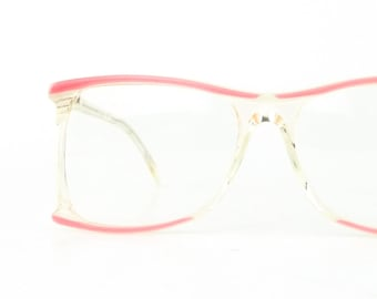 a15942915b vintage neostyle eyeglasses haute couture eye glasses pink and white eyeglass  frames