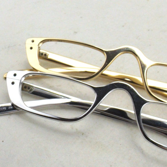 metal cat eye glasses | 50s vintage NOS | womens e