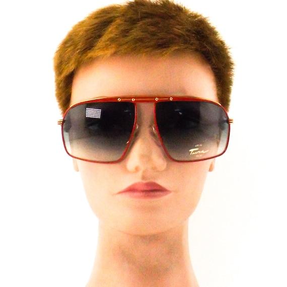 vintage sunglasses 70s 80s NOS tura   square flat… - image 4