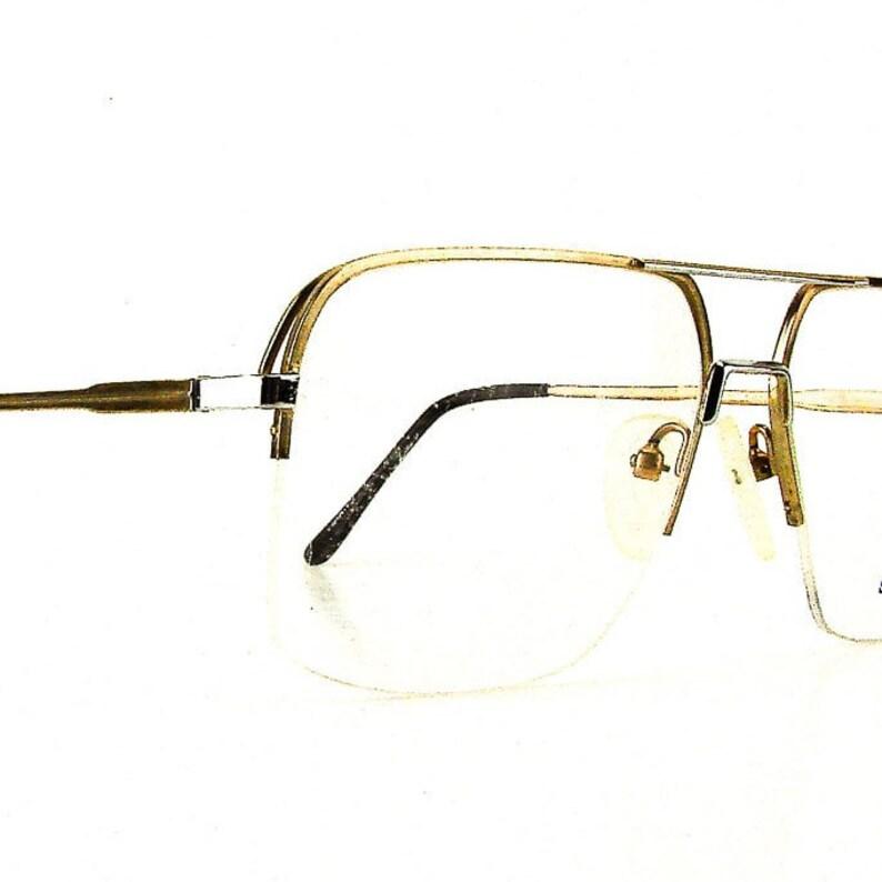 96fe334a0e Vintage eyeglasses oversize glasses half rim eyeglass frames