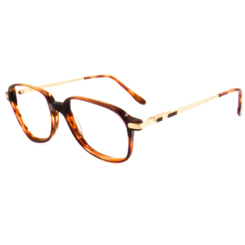 vintage 70s 80s tortoise shell eyeglasses | square gold eye glasses