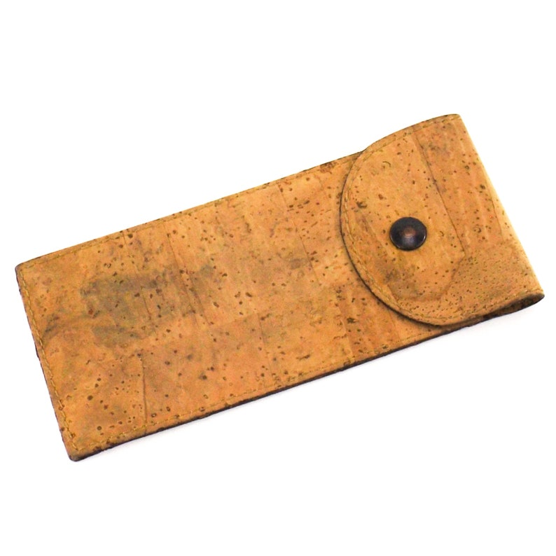 cork and leather eyeglasses case accessories for men or women Fiocchi eyeglass case italy vintage