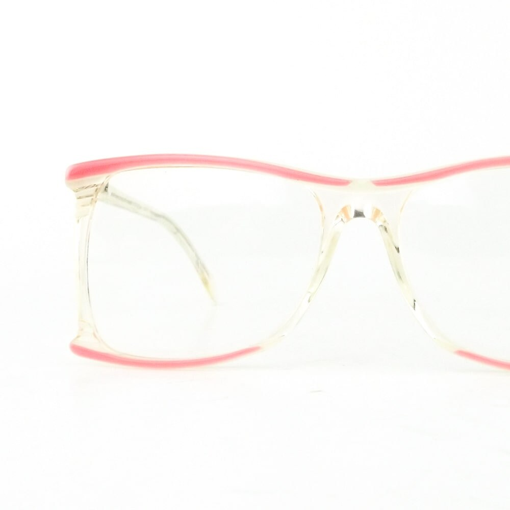 8ef27d086b vintage neostyle eyeglasses haute couture eye glasses pink and white ...