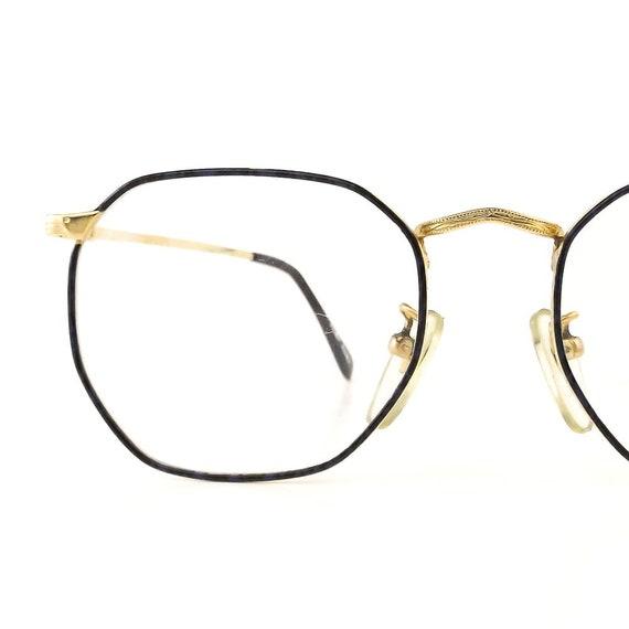 f6eb3e89d0 Navy blue eyeglass frames vintage octagon eyeglasses gold