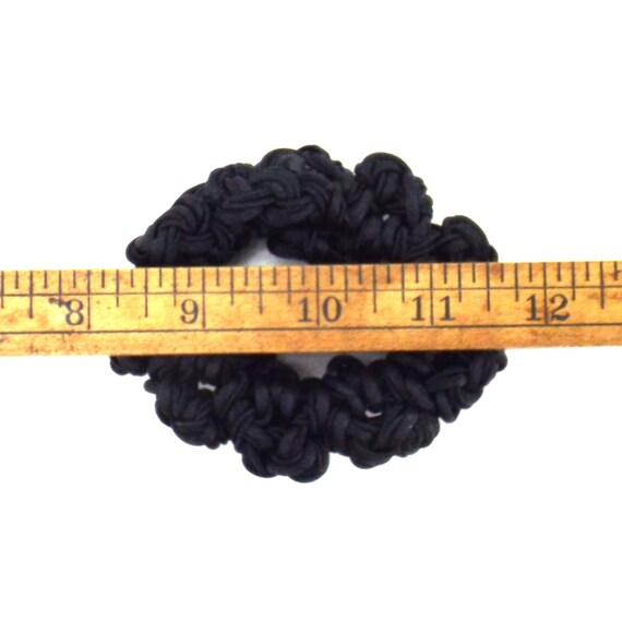black satin knots scrunchie | decorative hair tie… - image 6