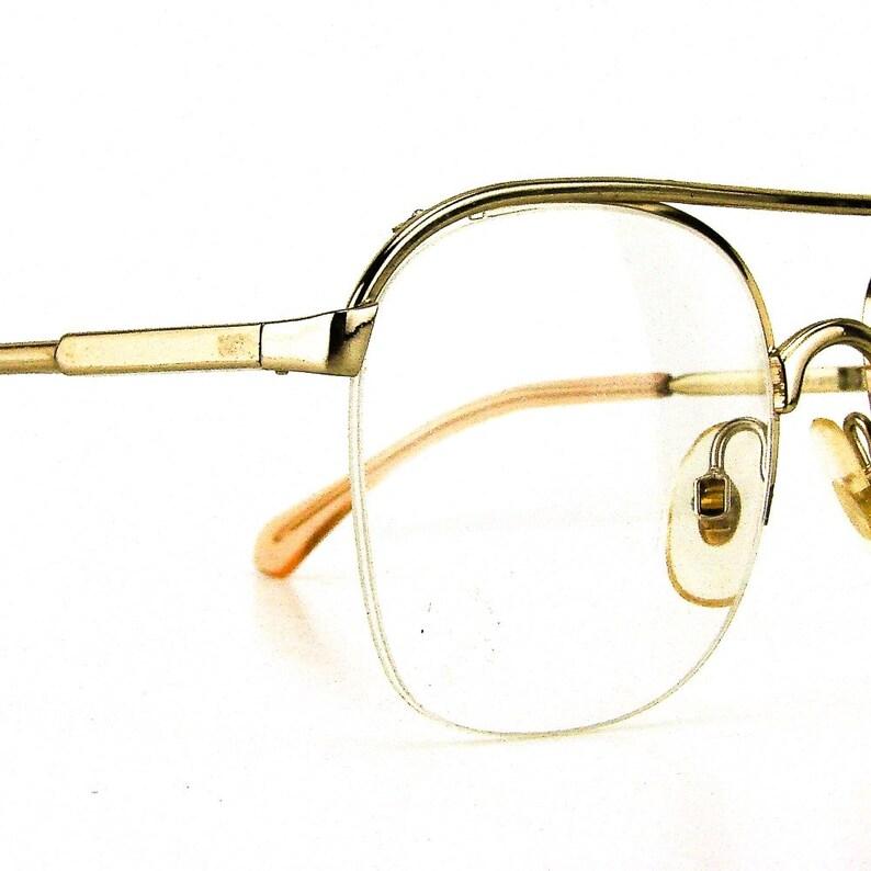 83042539a63 Vintage half rim glasses eyeglasses gold metal eyeglass frames