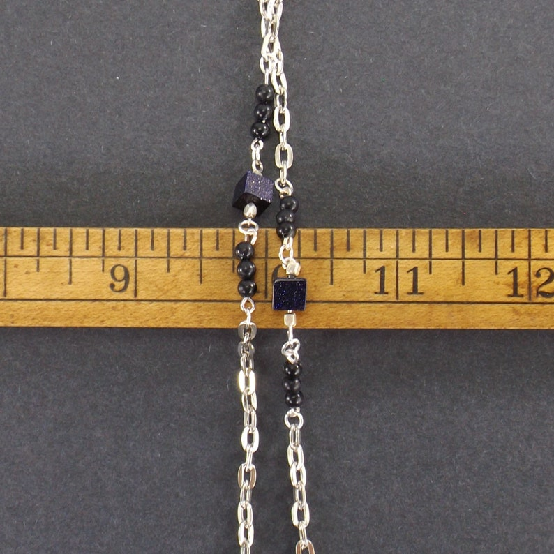 accessories man woman metal link necklace for glasses silver eyeglass chain black purple beads