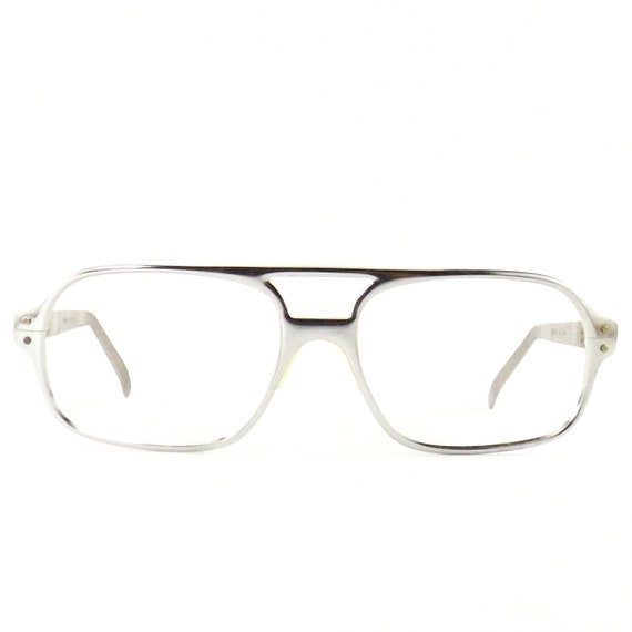 vintage 70s 80s NOS foremost eyeglasses | silver a