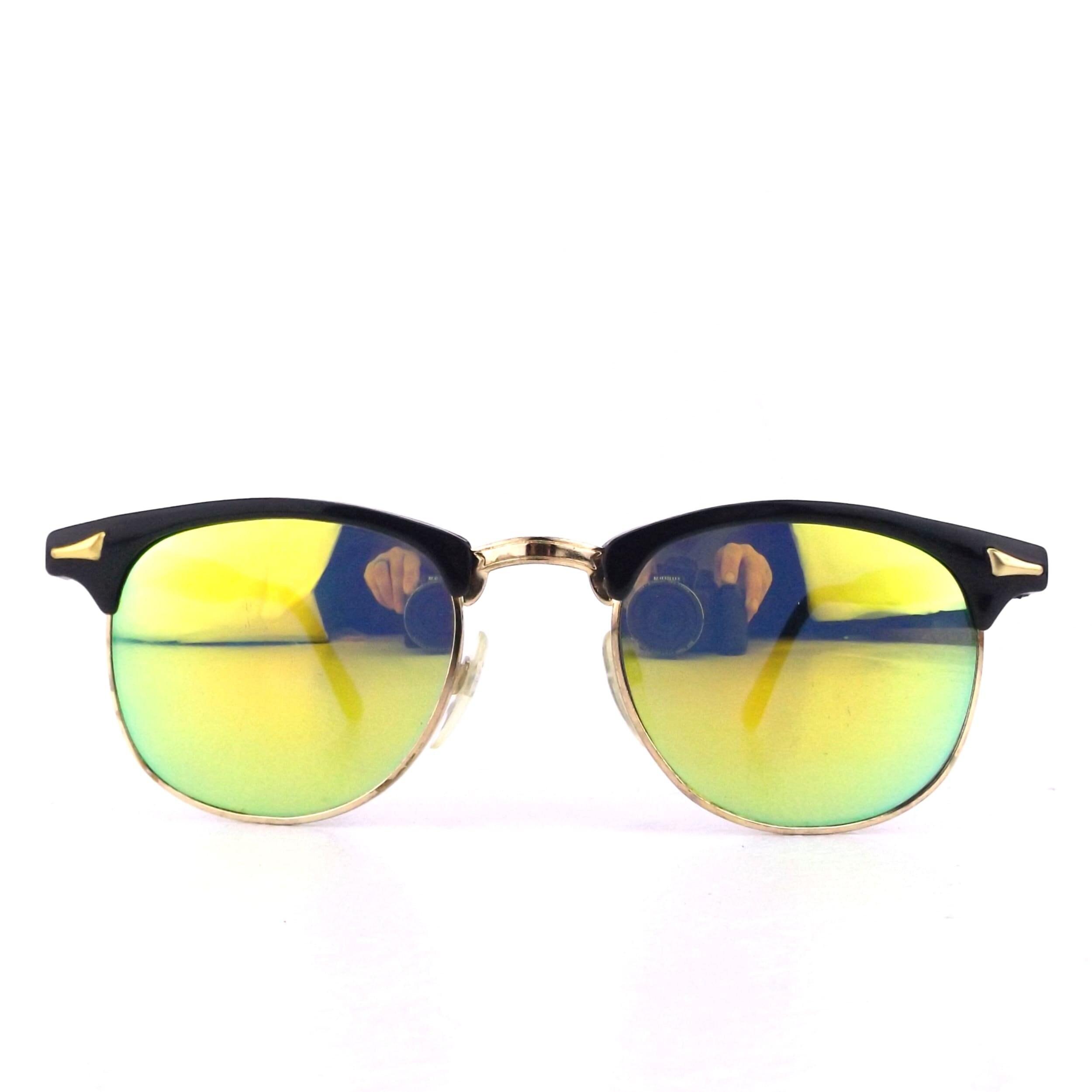£10 OR LESS VINTAGE 90s deadstock//80s round sunglasses clubmaster tortoiseshell