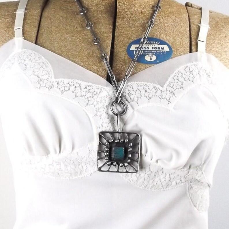 f1d2667ebc40 Modernist brutalist necklace vintage danish jewelry lysgard