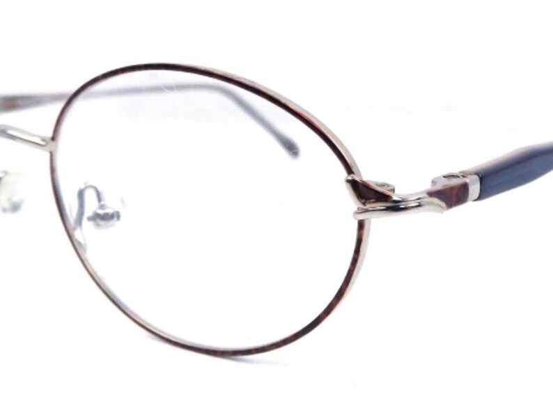 22d34f4d68b8 Oval eyeglass frames vintage 90s eye glasses blue and