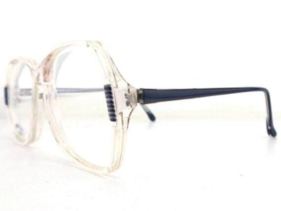black and white eyeglasses round eyeglass frames vintage | Etsy