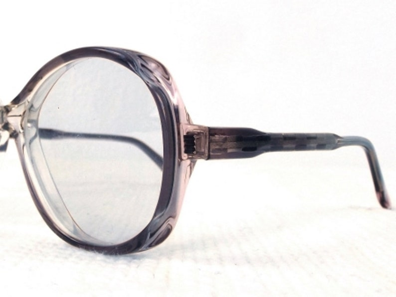 256d53f6ad99 Oversize eyeglass frames vintage french eye glasses purple