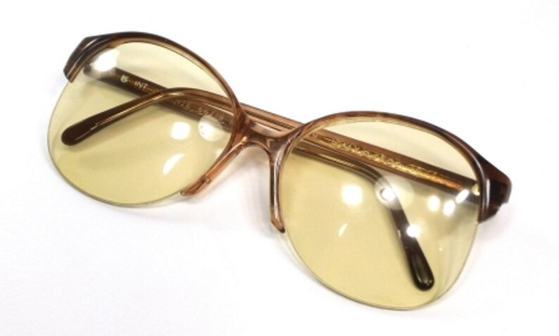b3d69f011c Oversize round eye glasses half rim eyeglass frames 70s