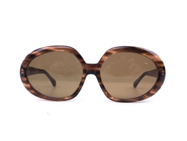 016c36a245a7 70s oversize oval sunglasses brown sun glasses men women   Etsy