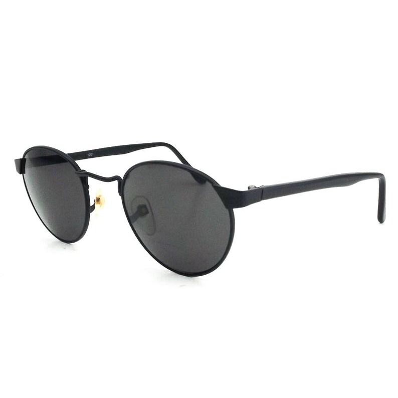 f9223b3f9 Round black sunglasses vintage 80s sun glasses men women   Etsy