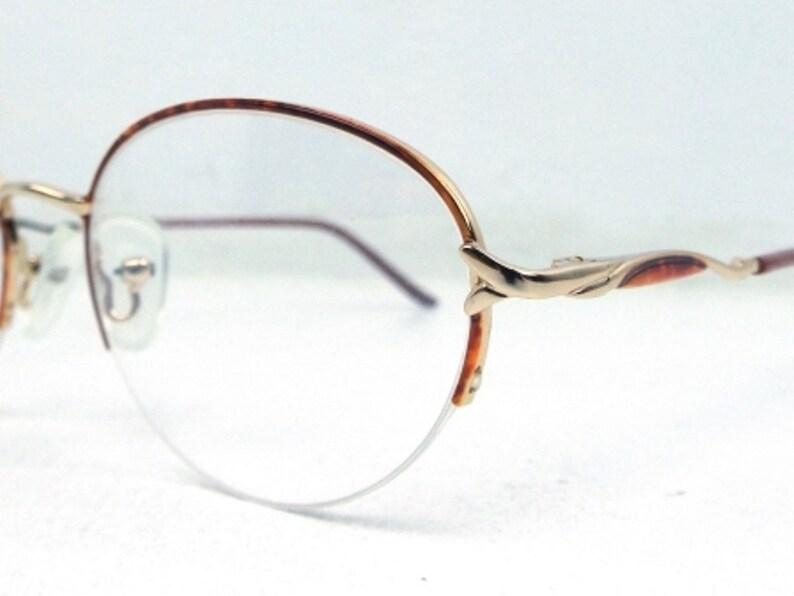 613c3ca0c9f Half rim glasses vintage eyeglass frames gold and tortoise
