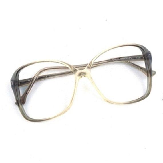 oversize eyeglass frames vintage eye glasses clear gray  0073830b6d