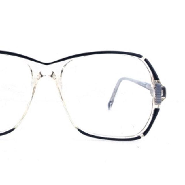 80s eyeglass frames vintage oversize eyeglasses clear plastic | Etsy