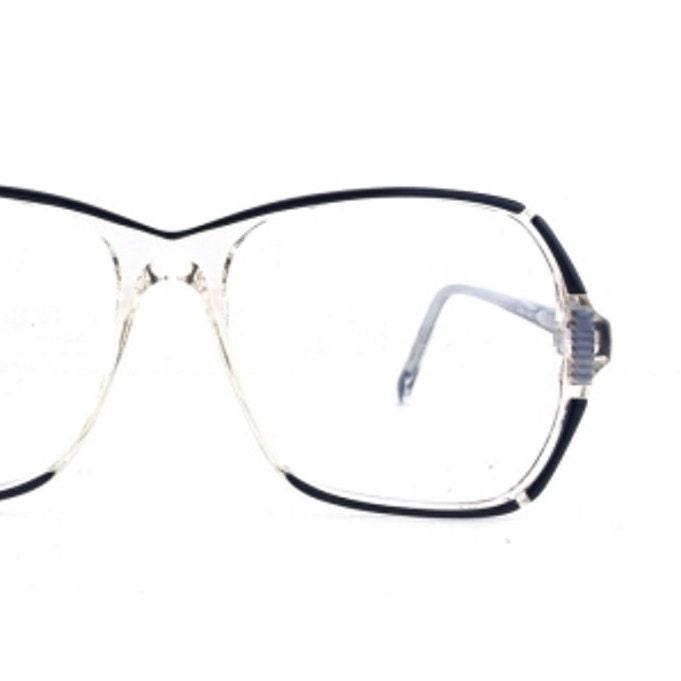 80s eyeglass frames vintage oversize eyeglasses clear plastic eye ...