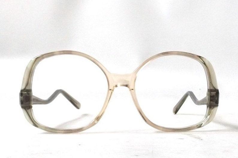 d5506065f00 Drop arm eye glasses vintage 70s eyeglass frames oversized