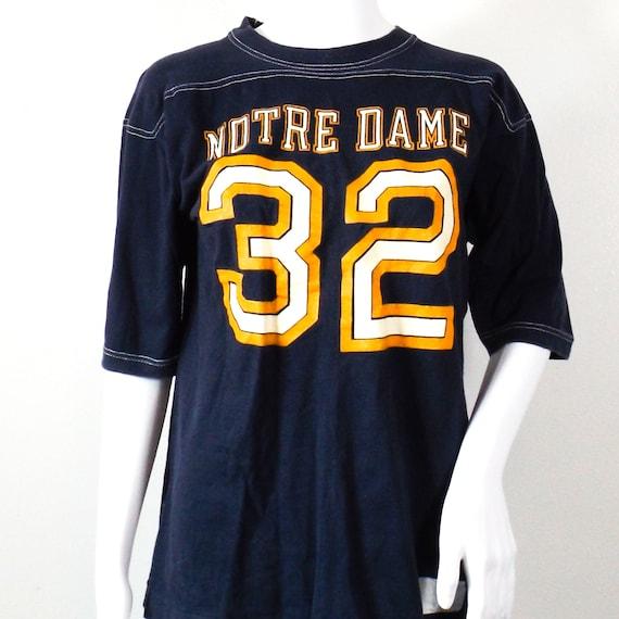 60s vintage Notre Dame tshirt jersey 32 medium lar