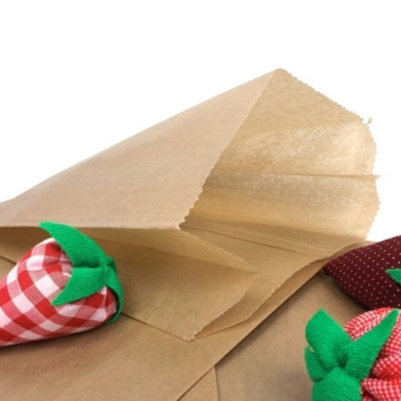 Brown Wax Paper Bags 20 Vintage Lot 10x3x7 Etsy