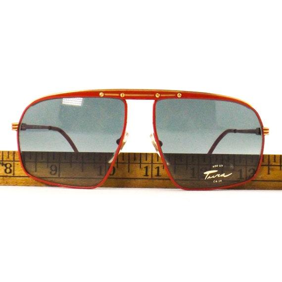 vintage sunglasses 70s 80s NOS tura   square flat… - image 7