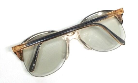 013d5c9f61 70s italian eyeglasses oversize round eye glasses half rim
