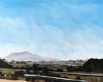 California Oil Painting -  9x12 - Carpinteria Salt Marsh painting by Sharon Schock