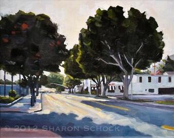Original Oil Landscape Painting - San Luis Obispo Ficus - 8x10