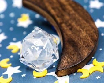 Crystal Moon D20 30mm Glass D20