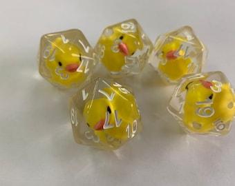 Lucky Duck20 Die Tabletop Dice D20 One D20- The Original Lucky Duck20!