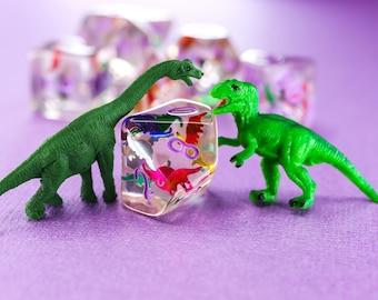 Dinosaur Confetti Dice Set- PREORDER