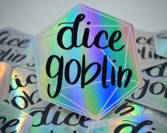 Dice Goblin Holographic Sticker