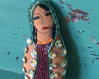 Virgin of Guadalupe - Virgin Mary - Folk Art Doll - Folk Art Ornament - Saint - Mexican Folk Art Inspired - Healing Gift -Inspirational Gift