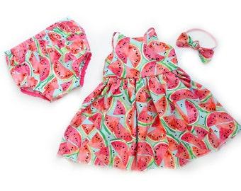 76a3c9704 Watermelon Summer Dress, Spring Dress, Sun Dress Baby Girls, Toddler Dress, Little  Girls Dress, Baby Dress, Toddler Girl Gift